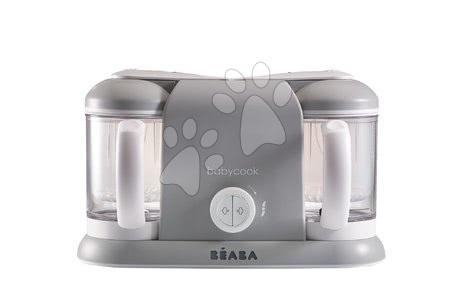 Hračky pre bábätká - Parný varič a mixér Beaba Babycook® Duo Plus šedý dvojitý od 0 mesiacov