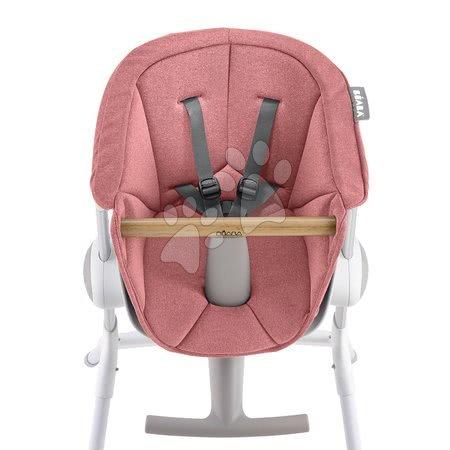 Sedež iz blaga Beaba Up & Down za leseni stolček za hranjenje rožnat