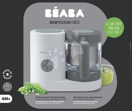 Hračky pre bábätká - Parný varič a mixér Babycook® Neo Grey White Beaba šedo-strieborný od 0 mesiacov_1