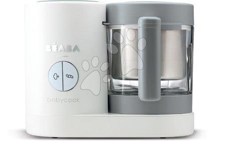 Hračky pre bábätká - Parný varič a mixér Babycook® Neo Grey White Beaba šedo-strieborný od 0 mesiacov
