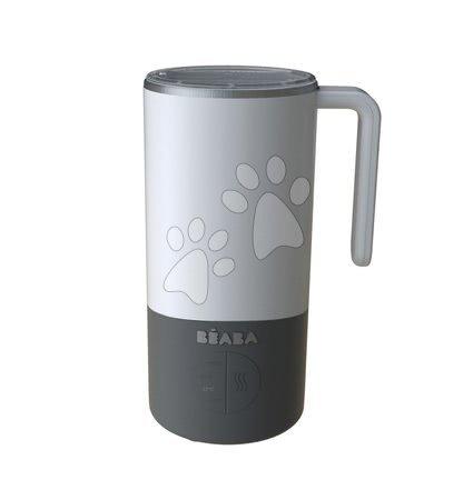 Hrănire și alăptare - Pregătirea laptelui și sterilizator Beaba Milk Prep® 450 ml inox albastru de la 0 luni gri