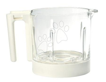 Hrănire și alăptare - Vas din sticlă pentru aparatul de gătit Babycook® Neo glass bowl Beaba alb din sticlă de înaltă calitate