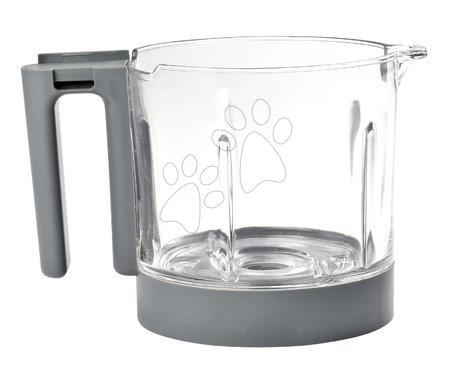 Hrănire și alăptare - Vas din sticlă pentru aparatul de gătit Babycook® Neo glass bowl Beaba gri din sticlă de înaltă calitate