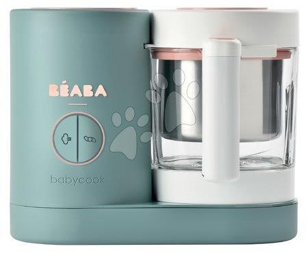 Parni kuhalnik in sekljalnik Beaba Babycook® Neo Eucalyptus zeleno-srebrn od 0 mes