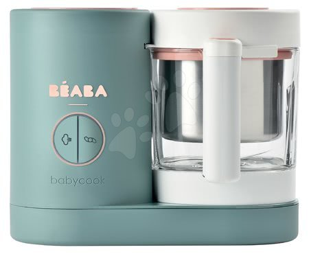 Parný varič a mixér Beaba Babycook® Neo Eucalyptus zeleno-strieborná od 0 mes