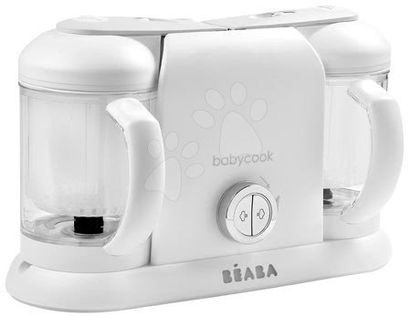 Hračky pre bábätká - Parný varič a mixér Beaba Babycook® Duo Plus White Silver dvojitý od 0 mesiacov_1