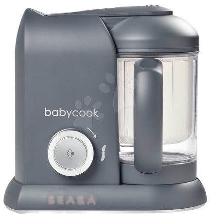 Hračky pre bábätká - Parný varič a mixér Beaba Babycook® Solo Dark Grey od 0 mes_1