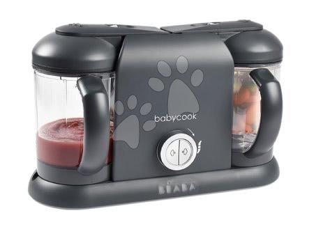 Hračky pre bábätká - Parný varič a mixér Beaba Babycook® Duo Plus Dark Grey dvojitý_1
