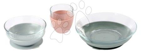 Jídelní souprava ze skla Duralex Eucalyptus Glass Meal Beaba z vysoce kvalitního temperovaného materiálu od 36 měs