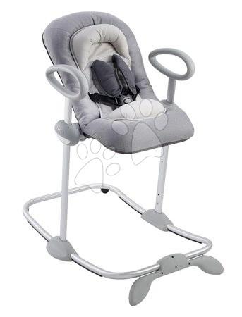 Scaun rabatabil bebe de odihnă Beaba Up&Down Bouncer III Heather grey 4 înălţimi şi 3 poziţii de la 0 luni