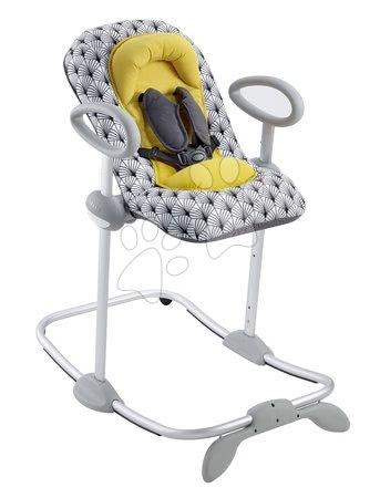 Hračky pre bábätká - Polohovateľné lehátko Up & Down Bouncer III Yellow Palm tree Beaba limitovaná edícia 4 výšky a 3 pozície od 0 mesiacov