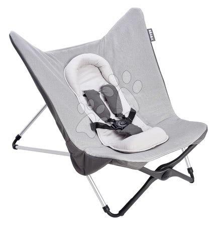 Beaba - Dojčenské lehátko Evolutive Compact Baby Seat II Beaba Heather Grey šedé skladacie od 0 mes