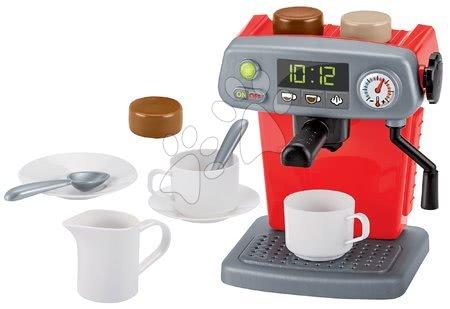 Spotřebiče do kuchyňky - Kávovar 100% Chef Écoiffier se šálky a čokoládou 12 doplňků od 18 měsíců