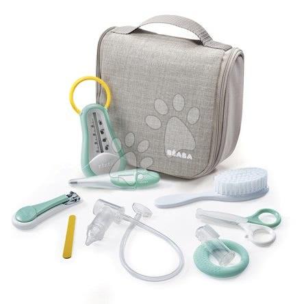 Viseča toaletna torbica Beaba z 9 dodatki siva