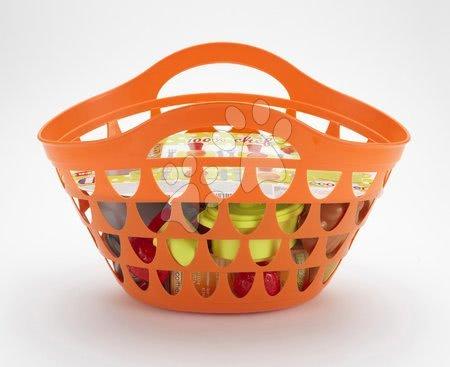 Košík pre deti s riadom 100% Chef Écoiffier s 33 doplnkami od 18 mesiacov oranžový