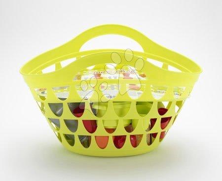 Košík pre deti s riadom 100% Chef Écoiffier s 33 doplnkami od 18 mesiacov zelený