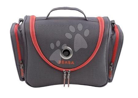 Kozmetična torbica Beaba Vanity sivo-rdeča