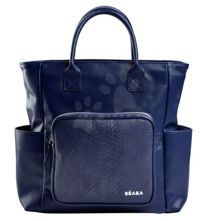 Prebaľovacia taška ku kočíku Kyoto Beaba modrá s hadím vzorom