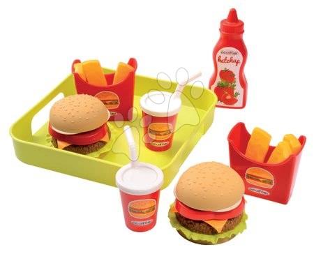 Set hamburger pe tavă 100% Chef Écoiffier de la 18 luni