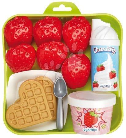 Căpșună cu frișcă 100%Chef Écoiffier pe tavă cu tacâm de la 18 luni