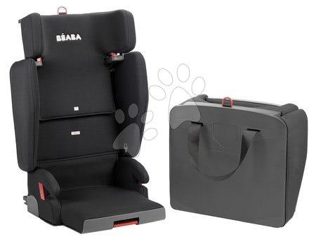 Hračky pre bábätká - Autosedačka skladacia Beaba PURSEAT'FIX skupina 2-3 kompaktná a prenosná V1 Isofix čierna od 15-36 kg
