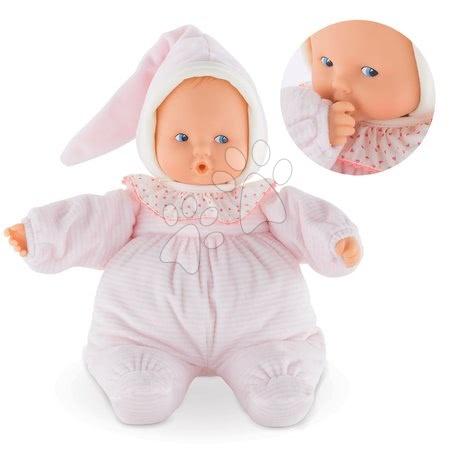 Bábika Babipouce Pink Striped Mon Doudou Corolle s modrými očami a špúliacimi ústočkami 28 cm od 0 mes