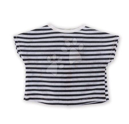 Oblečenie Striped T-shirt Navy Blue Ma Corolle pre 36 cm bábiku od 4 rokov