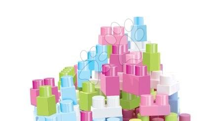 Razvoj čutov in motorike - Kocke v torbi Maxi Abrick Écoiffier rožnata v torbi 50 kockami + 30 % brezplačno = 65 kock od 12 mes_1