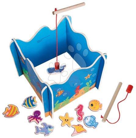 Hry na rybáře - Dřevěná hra na rybáře Fishing Game Eichhorn magnetická 16 dílů_1