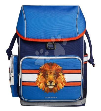 Šolske potrebščine - Šolski nahrbtnik velik Ergomax Lion Head Jeune Premier ergonomski luksuzni dizajn