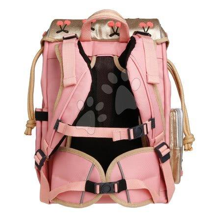 Šolske potrebščine - Šolski nahrbtnik velik Ergomaxx Cherry Pompon Jeune Premier ergonomski luksuzni dizajn 39*26 cm_1