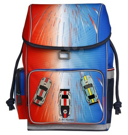 Šolske potrebščine - Školský batoh veľký Ergomaxx Racing Club Jeune Premier ergonomický luxusné prevedenie 39*26 cm JPERX21171