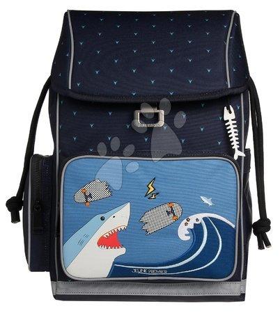 Šolske potrebščine - Šolska torba velika Ergomaxx Sharkie Jeune Premier ergonomska luksuzni dizajn 39*26 cm