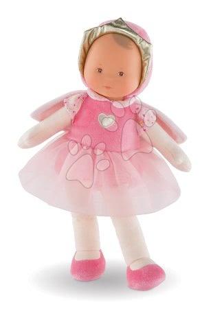 Bábiky od 0 mesiacov - Bábika víla Princess Cotton Flower Corolle Mon Doudou s hnedými očami a pelerínou 30 cm od 0 mes