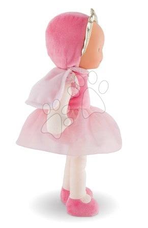 Bábiky od 0 mesiacov - Bábika víla Princess Cotton Flower Corolle Mon Doudou s hnedými očami a pelerínou 30 cm od 0 mes_1