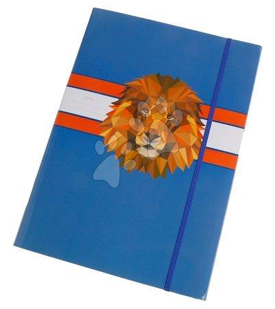 Fascikli - Školské dosky na zošity A4 File Folder Lion Head Jeune Premier elastické luxusné prevedenie JPFF020118