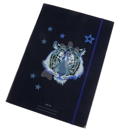 Fascikli - Školské dosky na zošity A4 File Folder Midnight Tiger Jeune Premier elastické luxusné prevedenie JPFF020151
