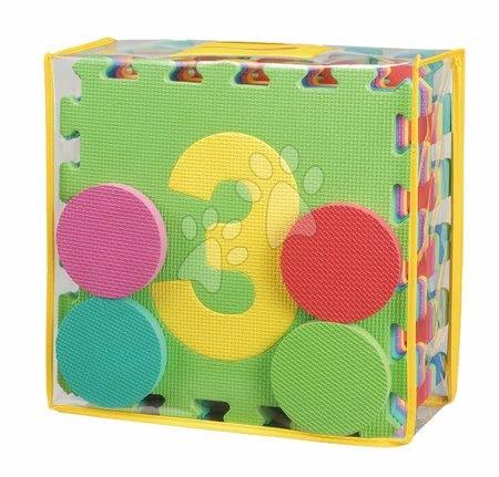 Lee Chyun - Habszivacs puzzle Hop-Scotch Lee Chyun 12 darab négyzet számokkal 32*32*1,4 cm és 4 darab habszivacs puk táskában_1