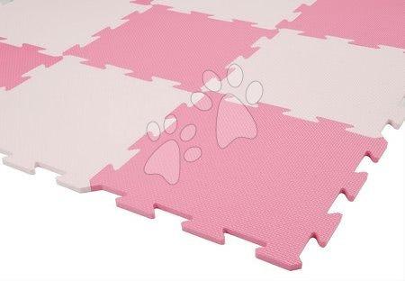 Puzzle din burete Lee Chyun covor de joacă pentru cei mai mici cu 9 piese roz de la 0 luni