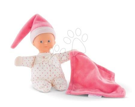 Bábiky od 0 mesiacov - Bábika Minirêve Mon Doudou Corolle Pink Heart s modrými očami 16 cm od 0 mes