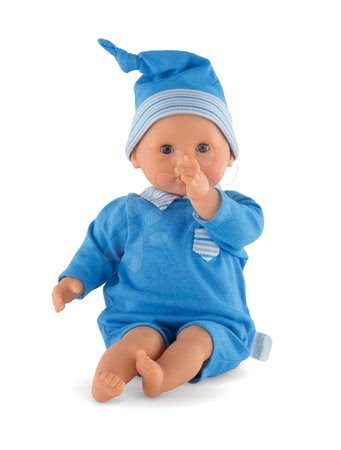 Panenky pro dívky - Panenka Bébé Calin Maël Corolle s modrými mrkacími očima a fazolkami 30 cm od 18 měs