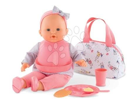 Dodatki za punčke in dojenčke - Jedilni set s torbico Mealtime set Mon Grand Poupon Corolle za 36-42 cm dojenčka od 24 mes_1