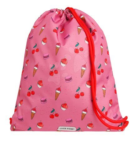 Vrećice za papuče - Školska vrećica za tjelesni i papuče Gym Bag Cherry Pop Jack Piers ergonomska luksuzni dizajn od 2 godine 36*44*10 cm