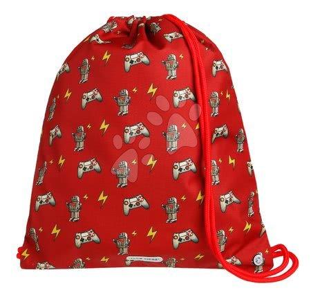 Vrećice za papuče - Školska vrećica za tjelesni i papuče Gym Bag Retrobots Jack Piers ergonomska luksuzni dizajn od 2 godine 36*44*10 cm