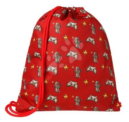Vrećice za papuče - Školska vrećica za tjelesni i papuče Gym Bag Retrobots Jack Piers ergonomska luksuzni dizajn od 2 godine 36*44*10 cm_1