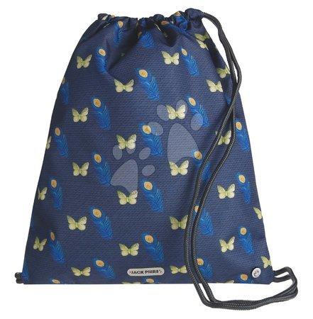 Vrećice za papuče - Školský vak na telocvik a prezúvky Gym Bag Feather Jack Piers ergonomický luxusné prevedenie od 2 rokov 36*44 cm JPGY021243