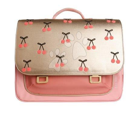 Školske aktovke - Školska aktovka It bag Midi Cherry Pompon Jeune Premier ergonomska luksuzni dizajn 30*38 cm