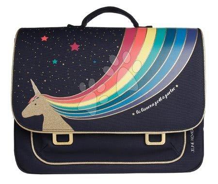 Školske aktovke - Školska aktovka It bag Midi Unicorn Gold Jeune Premier ergonomska luksuzni dizajn 30*38 cm