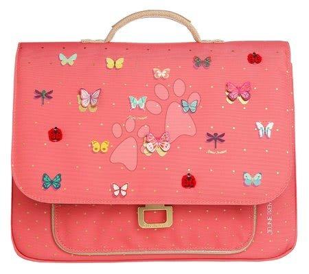 Školske aktovke - Školska aktovka It bag Mini Butterfly Pink Jeune Premier ergonomska luksuzni dizajn