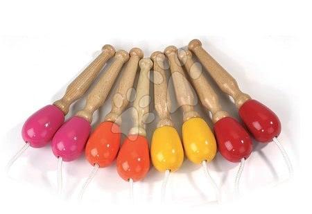 Dětská skákadla a hopsadla - Dřevěné švihadlo Classical Skipping Ropes Janod 4 různé barvy